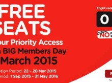 AirAsia Free Seats Promotion March 2015