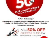 AirAsia 50 Off All Destinations Promo