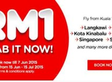AirAsia RM1 June July Promotion
