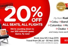AirAsia 20 Percent Flights Promotion