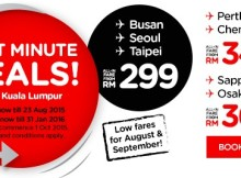 AirAsia X Last Minute Deals