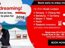 AirAsia 2016 Stop Daydreaming Promo