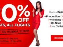AirAsia 20Percent Off All Flights Promotion