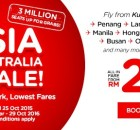 AirAsia 3 Million Seats On Sale From RM29