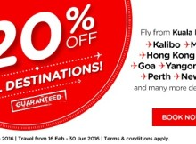AirAsia 20 Percent Off Promo