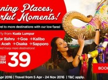 AirAsia Stunning Places Colourful Moments Promo