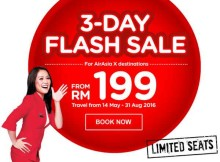 AirAsia X 3 Day Flash Sale
