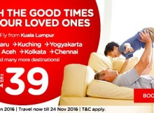 AirAsia Cherish Good Times Promo 2016