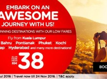 AirAsia Embark An Awesome Journey Promo 2016