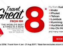 AirAsia Travel Great From RM8 Promo 2017
