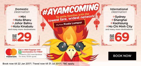 AirAsia Ayam Coming Lowest Fare Promo
