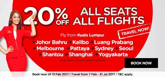AirAsia 20 Percent Off Promo