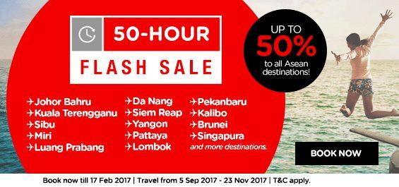 AirAsia 50 Hour Flash Sale Promo