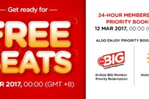 AirAsia Free Seats Deal March 2017