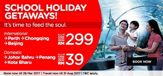 AirAsia School Holidays Getaway Promo