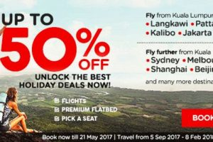 AirAsia 50 Percent Off Holiday Promo