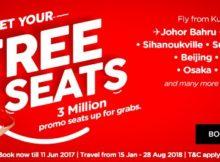 AirAsia 3 Million Free Seats 2018 Promo